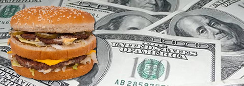 El atraso cambiario según el Big Mac Index