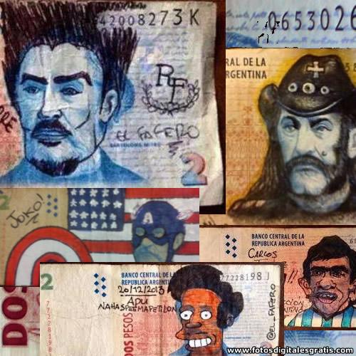 Billetes de 2 pesos : un espacio de arte