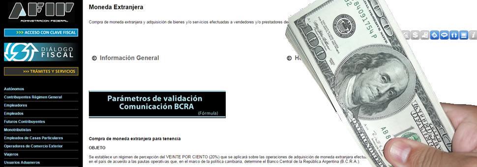 La página de la AFIP para autorización de compra de dólares para ahorro sigue colapsada