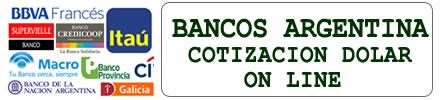 Bancos Argentina cotización dolar