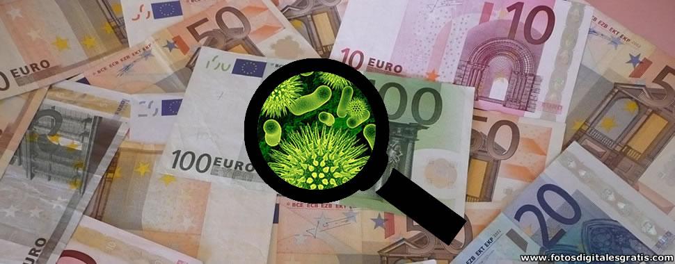 Billetes Euros y agentes patógenos.