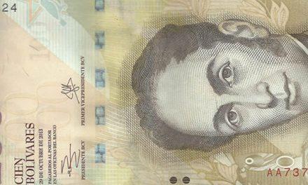 Venezuela se despide del billete de 100 bolívares