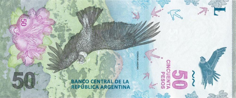 Nuevos Billete de 50 pesos : llego el cóndor