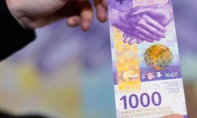 Suiza renovó su polémico billete de 1000 francos