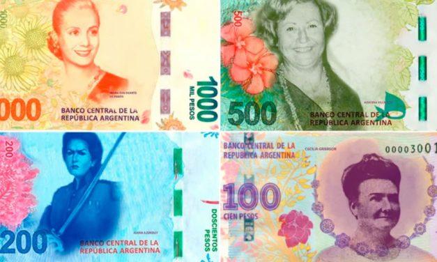 Se vienen los billetes pesos argentinos feministas ?