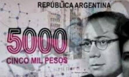Bancos argentinos reclaman por billete de 5000 pesos
